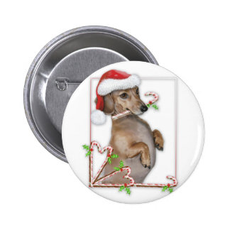 Dachshund Lilly's Candy Canes 2 Inch Round Button