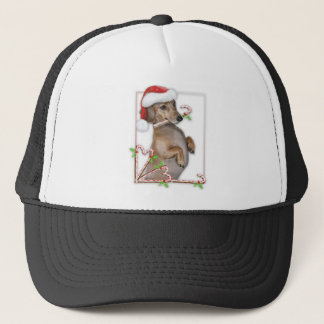 Dachshund Lilly's Candy Canes Trucker Hat
