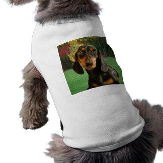 Dachshund lindo (Brown miniatura de pelo corto) Playera Sin Mangas Para Perro