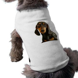 Dachshund lindo (Brown miniatura de pelo corto) Camiseta De Perrito