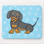 Dachshund lindo Mousepad del perro del dibujo anim Tapetes De Ratones