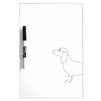 Dachshund listo para colorear - diseño del pizarra blanca