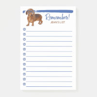 Dachshund Little Dog Remember To Do List Post-it Notes