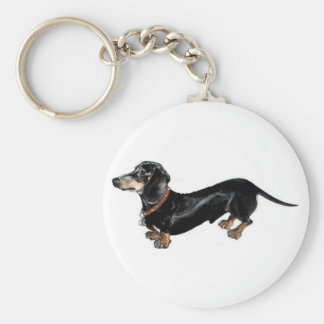 dachshund long dog key chain