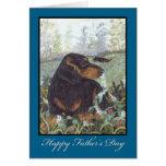 Dachshund Long Hair Father's Day Card