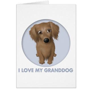 Dachshund (Long-Hair) Granddog Card