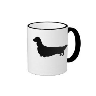 Dachshund (Long Hair) Ringer Coffee Mug