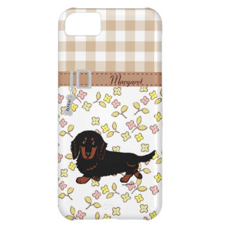 Dachshund Long Haired Black and Tan iPhone 5C Cover