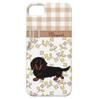 Dachshund Long Haired Black and Tan iPhone 5 Case