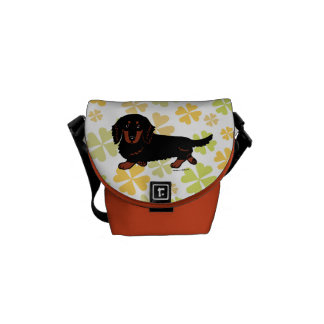 Dachshund Long Haired Black and Tan Commuter Bags