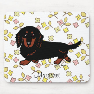 Dachshund Long Haired Black and Tan Mouse Pad