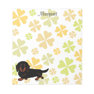 Dachshund Long Haired Black and Tan Scratch Pads