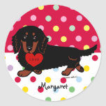 Dachshund Long Haired Black and Tan Sticker