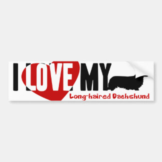 Dachshund [Long-haired] Bumper Stickers