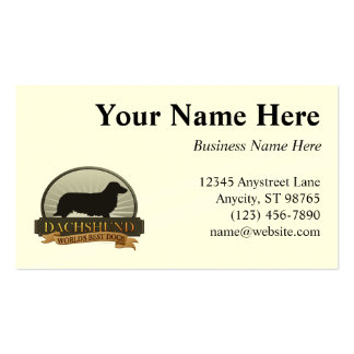 Dachshund [Long-haired] Business Card Template