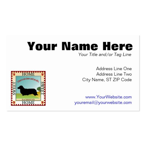 Dachshund [Long-haired] Business Cards