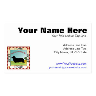 Dachshund [Long-haired] Double-Sided Standard Business Cards (Pack Of 100)