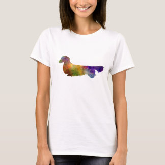 Dachshund Long Haired in watercolor-2 T-Shirt