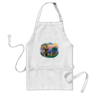 Dachshund (long haired sable) adult apron