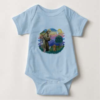 Dachshund (long haired sable) baby bodysuit
