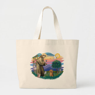 Dachshund (long haired sable) large tote bag