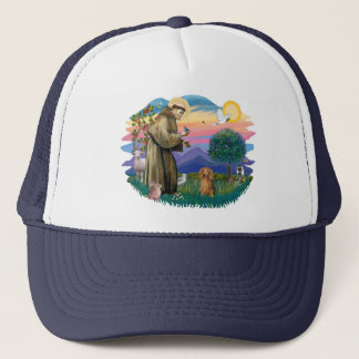 Dachshund (long haired sable) trucker hat