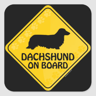 Dachshund [long-haired] Xing Square Sticker