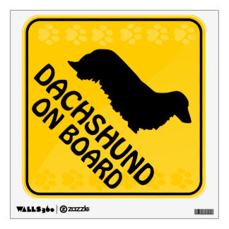 Dachshund [long-haired] Xing Wall Decal