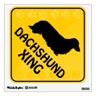 Dachshund [long-haired] Xing Wall Sticker