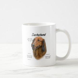 Dachshund (longhair) History Design Classic White Coffee Mug
