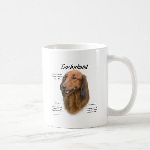 Dachshund (longhair) History Design Coffee Mug