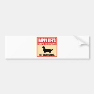 Dachshund Longhaired Car Bumper Sticker