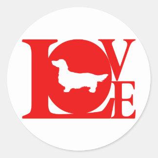 Dachshund Longhaired Classic Round Sticker
