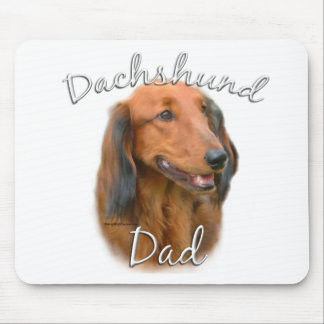 Dachshund (longhaired) Dad 2 Mouse Pad