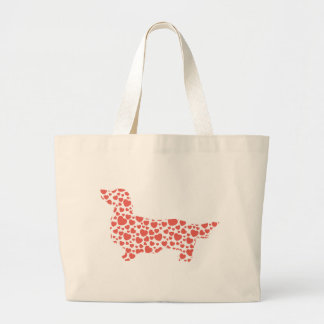 Dachshund Longhaired Large Tote Bag