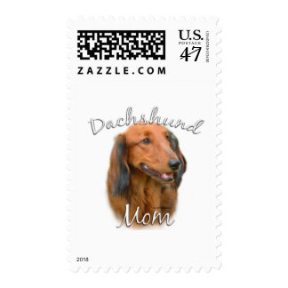 Dachshund (longhaired) Mom 2 Postage