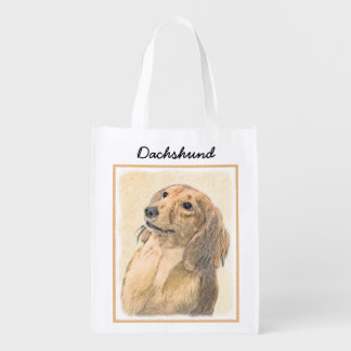 Dachshund (Longhaired) Reusable Grocery Bag