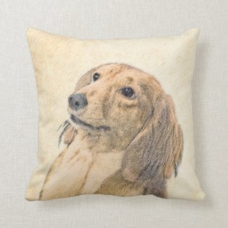 Dachshund (Longhaired) Throw Pillow