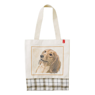 Dachshund (Longhaired) Zazzle HEART Tote Bag