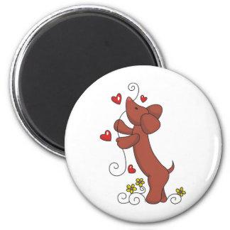 Dachshund Love 2 Inch Round Magnet