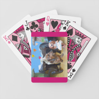 Dachshund Love Bicycle Playing Cards