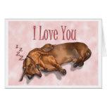 Dachshund Love Card