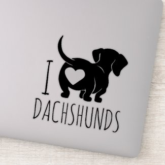 Dachshund Love Custom Cut Stickers