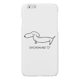 Dachshund Love Glossy iPhone 6 Case
