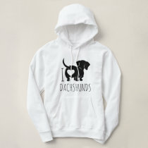 Dachshund Love Hooded Sweatshirt