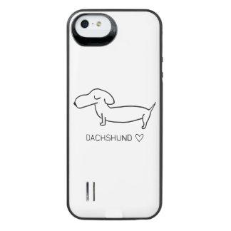Dachshund Love iPhone SE/5/5s Battery Case