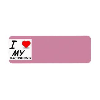 dachshund love label