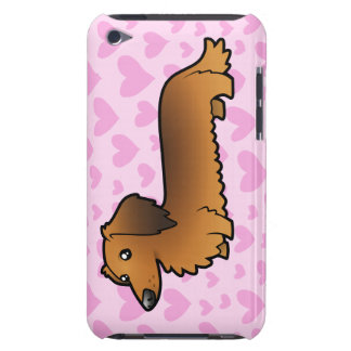 Dachshund Love (longhair) Barely There iPod Cover