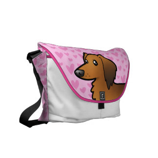 Dachshund Love (longhair) Courier Bag
