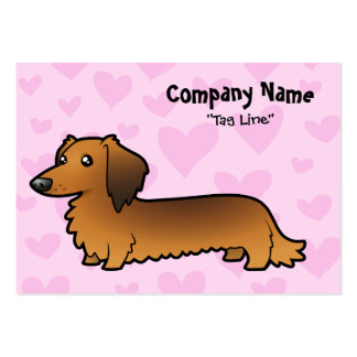 Dachshund Love (longhair) Large Business Card
